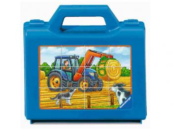 Sestavljanka Traktor kocke 6x12 kos eigrace