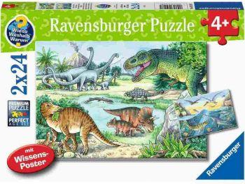 Sestavljanka Ravensbuger dinozavri 2x24