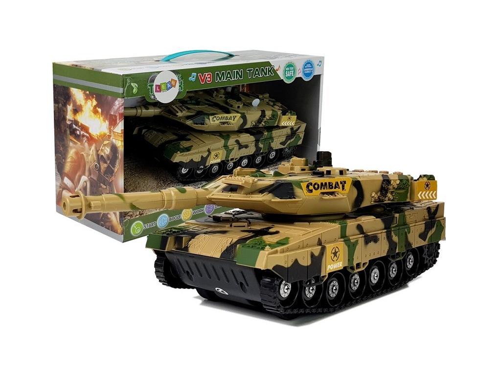 Igrača tank s svetlobnimi in zvočnimi učinki